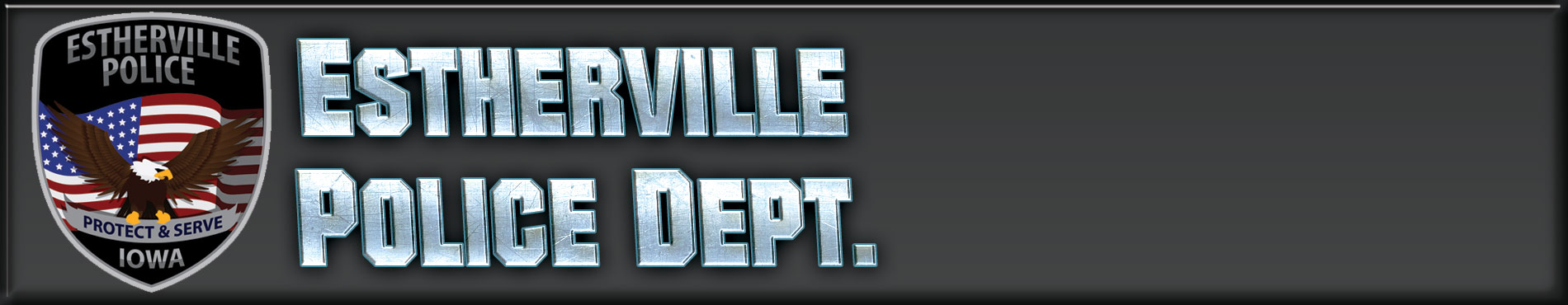 Estherville, Iowa Police Department Header